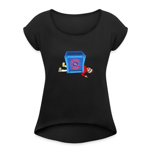 BG Limited Time Fortnite Inspired Design - Women's T-Shirt with rolled up sleeves