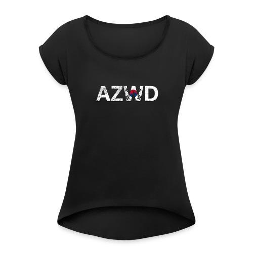 AZWD South Korea - T-shirt à manches retroussées Femme
