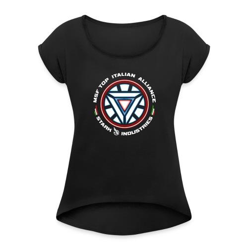 LOGO SI - Maglietta da donna con risvolti