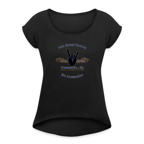 Supporter der Freibeutercommunity - Design by HpT - Frauen T-Shirt mit gerollten Ärmeln