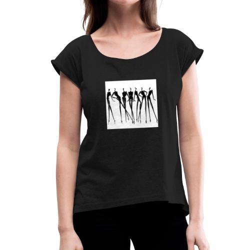 Mannequine - T-shirt à manches retroussées Femme