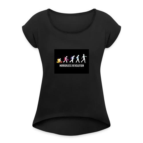 mirrorless evolution - Camiseta con manga enrollada mujer