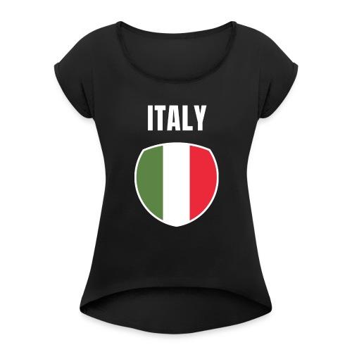 Pays Italie - T-shirt à manches retroussées Femme