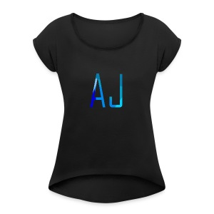 AJ No Background - Women's T-shirt with rolled up sleeves