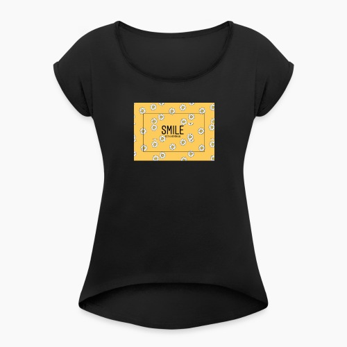 SMILE ITS SUNNAH - Maglietta da donna con risvolti