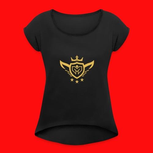 MaesArmy Logo - Vrouwen T-shirt met opgerolde mouwen