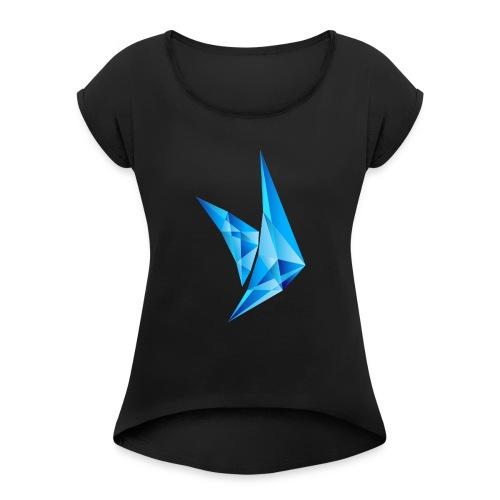 PPE Logo - Frauen T-Shirt mit gerollten Ärmeln