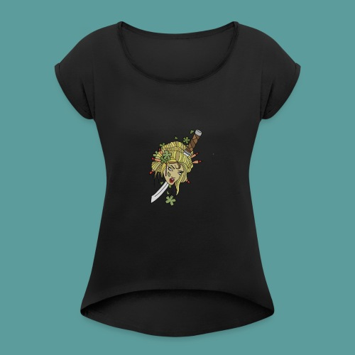 Samurai-No-More - Women's T-Shirt with rolled up sleeves