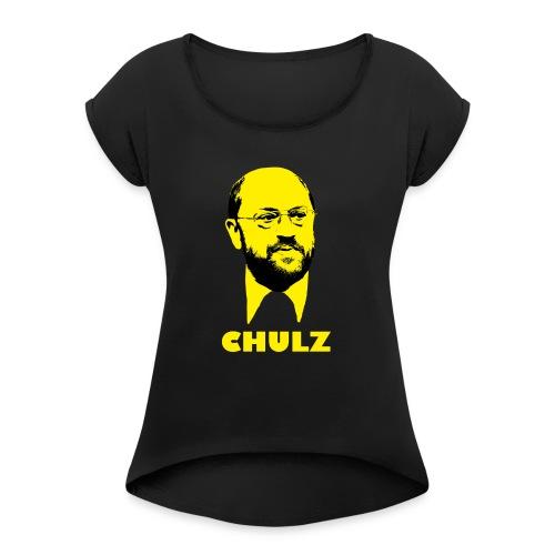 chulz - Frauen T-Shirt mit gerollten Ärmeln