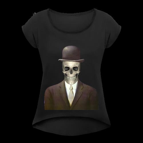 magritte skull - Maglietta da donna con risvolti