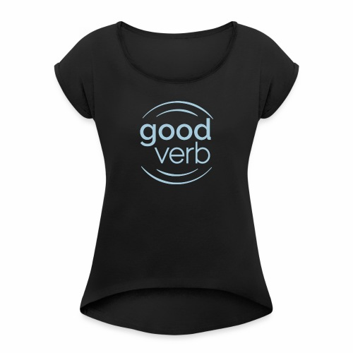 Ladies - Women's T-shirt with rolled up sleeves