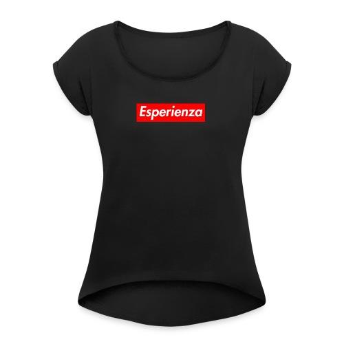 Esperienza logo box - Maglietta da donna con risvolti