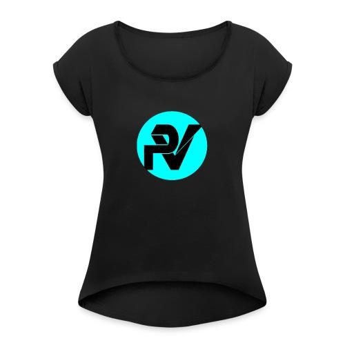 POVISTYLE - Camiseta con manga enrollada mujer