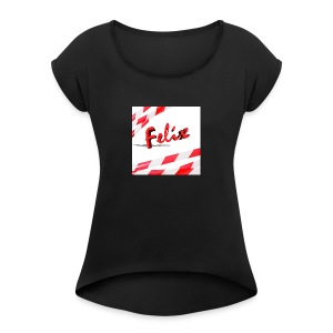 Mein erster Merchendise - Women's T-shirt with rolled up sleeves