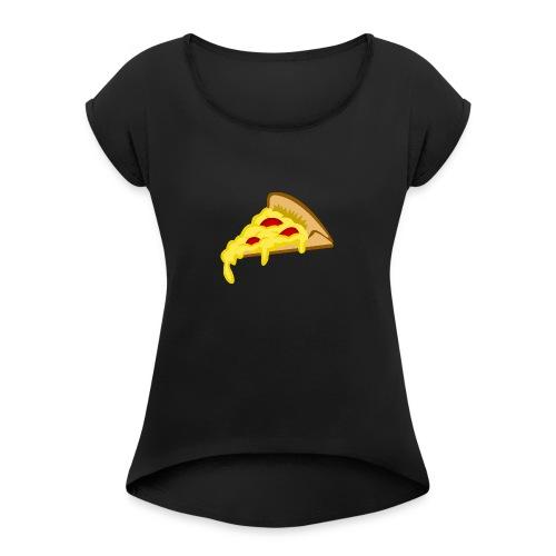 If it fits my macros Pizza - Vrouwen T-shirt met opgerolde mouwen