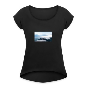 ValdemarozCollection - T-shirt med upprullade ärmar dam
