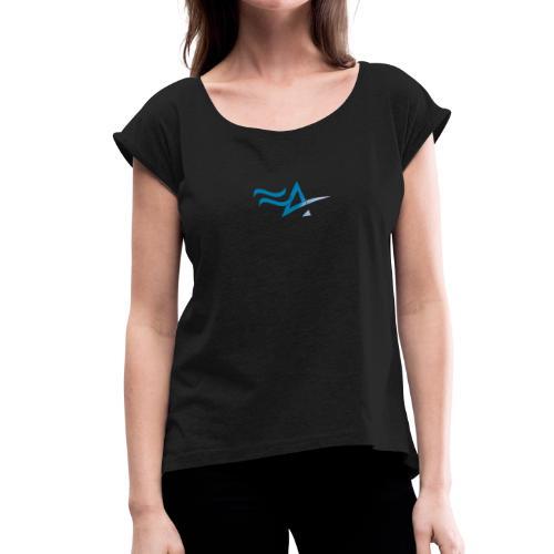 Fitness Addict Logo - Blue - T-shirt à manches retroussées Femme