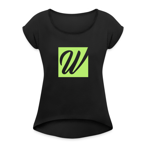 W only W!!!! - Frauen T-Shirt mit gerollten Ärmeln