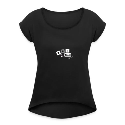 Dog brand logo - T-shirt med upprullade ärmar dam