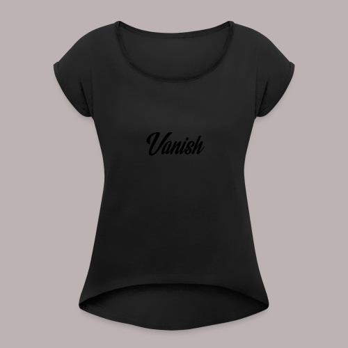 Vanish - T-shirt med upprullade ärmar dam