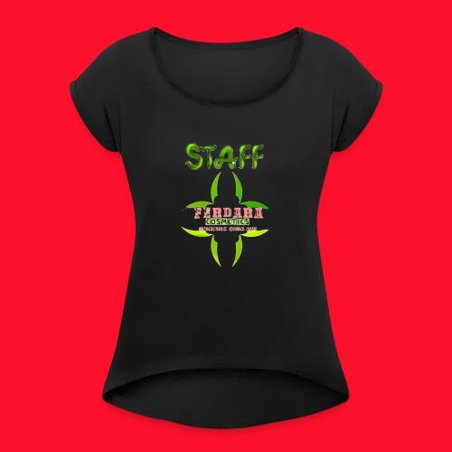 logo_de_ferdara_cosmetics_veracruz_zona_sur. - Camiseta con manga enrollada mujer