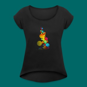 BUBLE - Women's T-shirt with rolled up sleeves