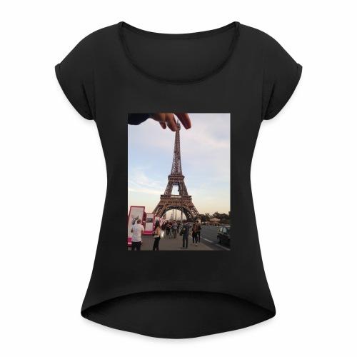 Paris Tour Eiffel - T-shirt à manches retroussées Femme