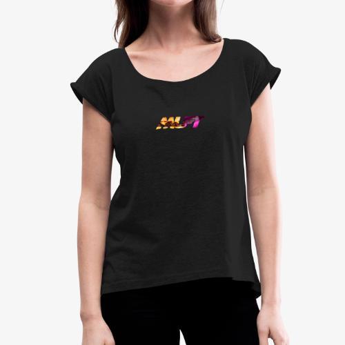 HUNGRY MUFT - Camiseta con manga enrollada mujer