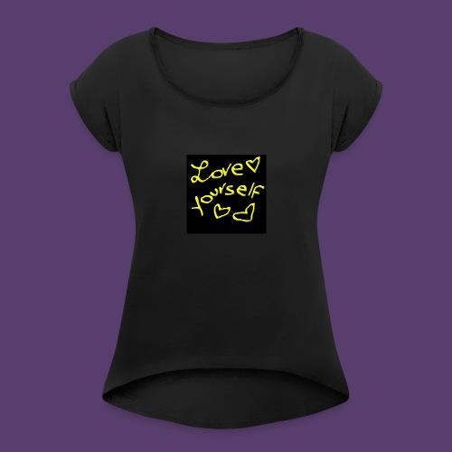 LoveYourself - Maglietta da donna con risvolti