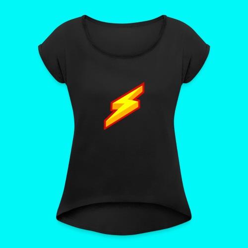 Lightning Shirt - Vrouwen T-shirt met opgerolde mouwen