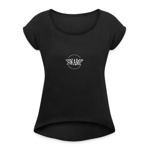 SwampRecordsYG Fly - Vrouwen T-shirt met opgerolde mouwen