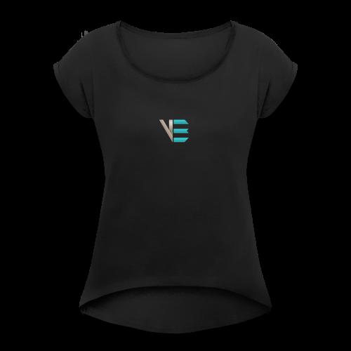 Standard-Logo - Frauen T-Shirt mit gerollten Ärmeln