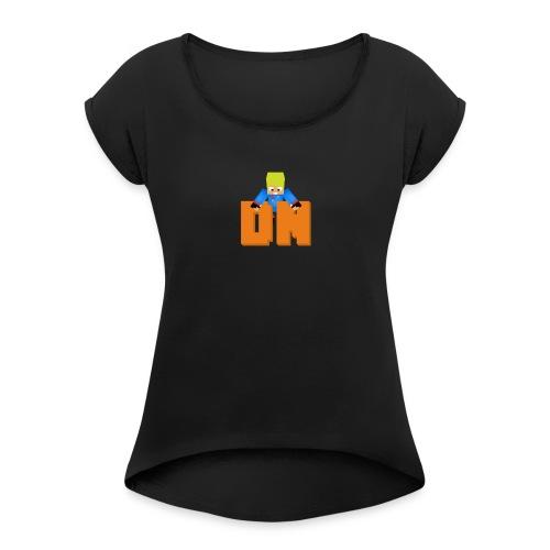 Darkness Network - Vrouwen T-shirt met opgerolde mouwen