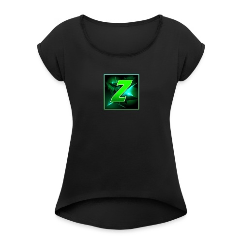 Youtube Logo - Women's T-Shirt with rolled up sleeves