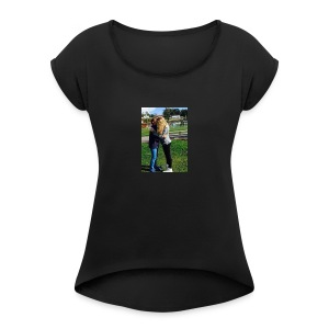 MathildeElskerDeg-jpg - T-skjorte med rulleermer for kvinner