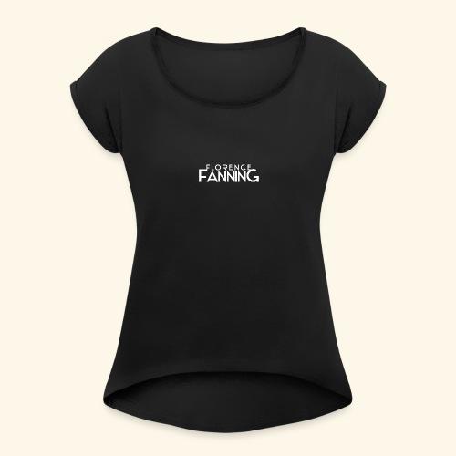 Florence Fanning - Frauen T-Shirt mit gerollten Ärmeln