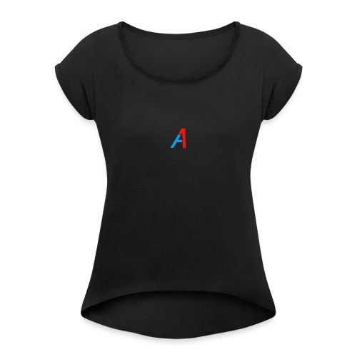 A1 Merch - Frauen T-Shirt mit gerollten Ärmeln