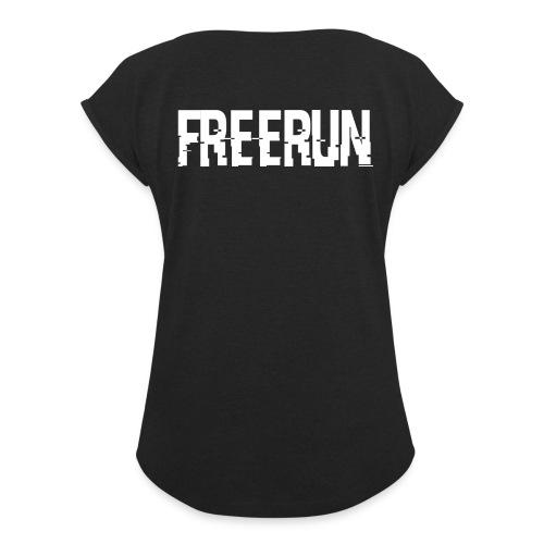logo freerun - T-shirt à manches retroussées Femme