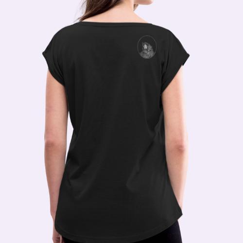 Tendo klein auf der Schulter - Frauen T-Shirt mit gerollten Ärmeln