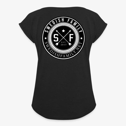 Swedish Family - T-shirt med upprullade ärmar dam