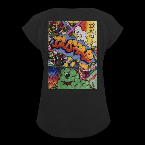 Insane - Frauen T-Shirt mit gerollten Ärmeln