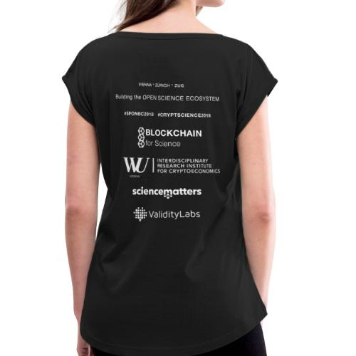 SPONBC2018 CRYPTSCIENCE2018 - Women's T-Shirt with rolled up sleeves