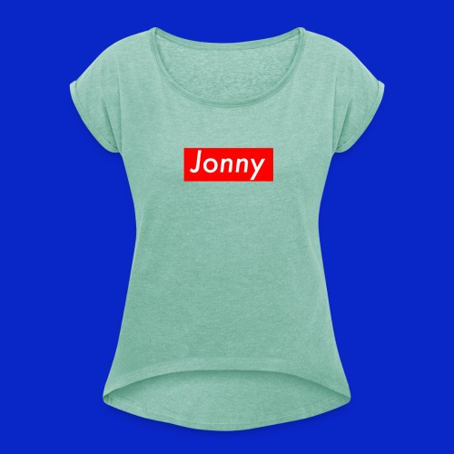 Jonny - Women's T-Shirt with rolled up sleeves