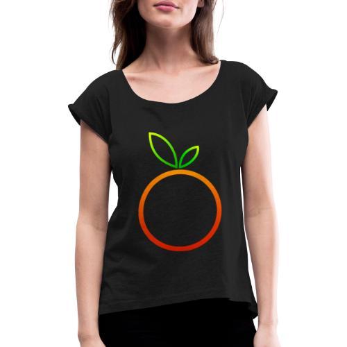 Apfel Apple Pomme Manzana Mela Äpple - Frauen T-Shirt mit gerollten Ärmeln