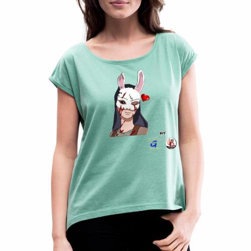 Huntress Love - Maglietta da donna con risvolti