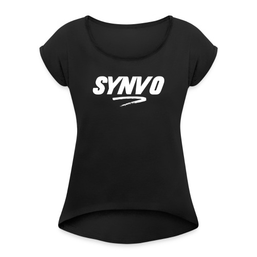 Black Synvo Designs - Women's T-Shirt with rolled up sleeves