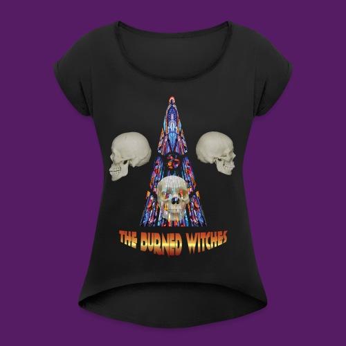 LogoTShirtCrane png - T-shirt à manches retroussées Femme