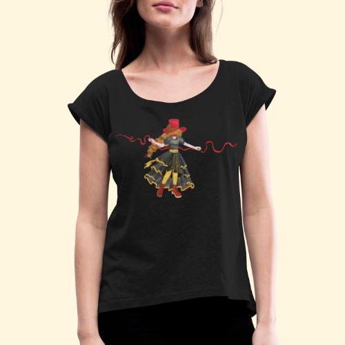 Ladybird - La célèbre uchronaute - T-shirt à manches retroussées Femme