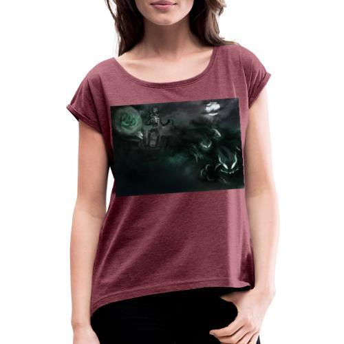 dark santa - T-shirt à manches retroussées Femme