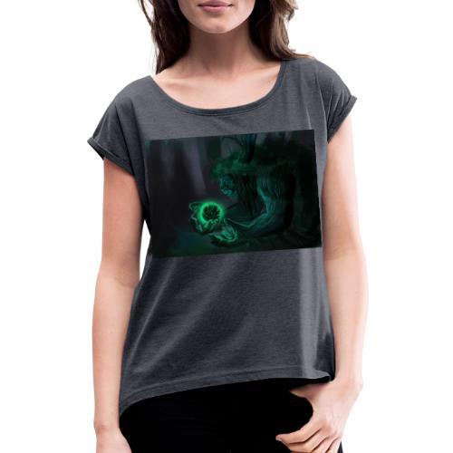 big tree - T-shirt à manches retroussées Femme